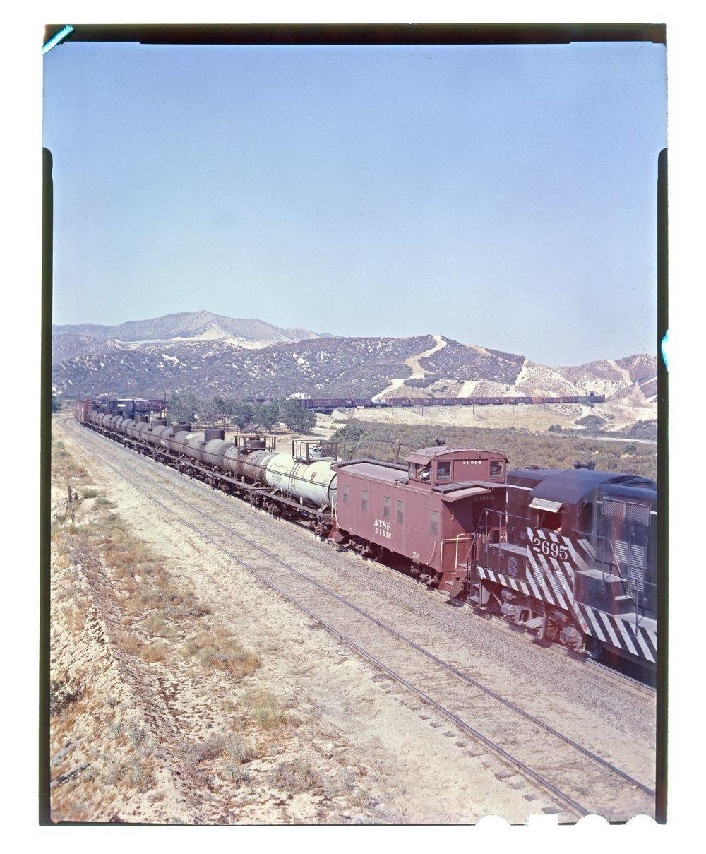 Atchison, Topeka & Santa Fe freight train, Cajon Pass, California