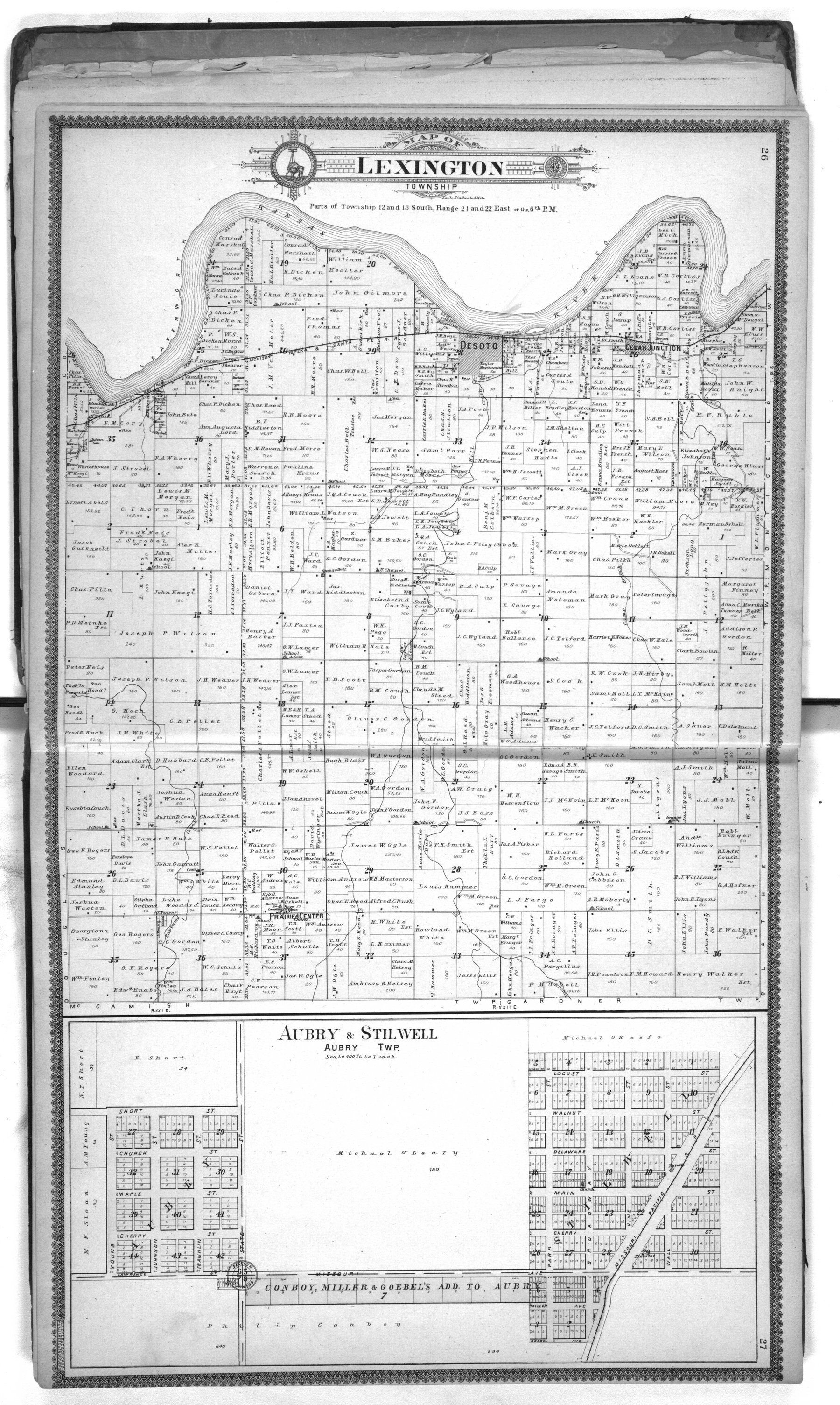 Standard atlas of Johnson County, Kansas - 26 & 27