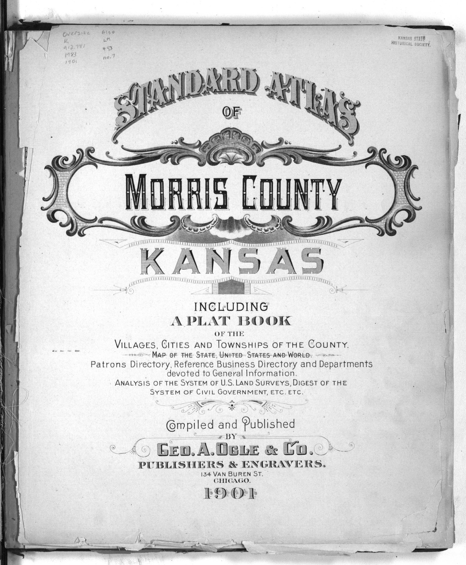 Standard atlas of Morris County, Kansas - Title Page