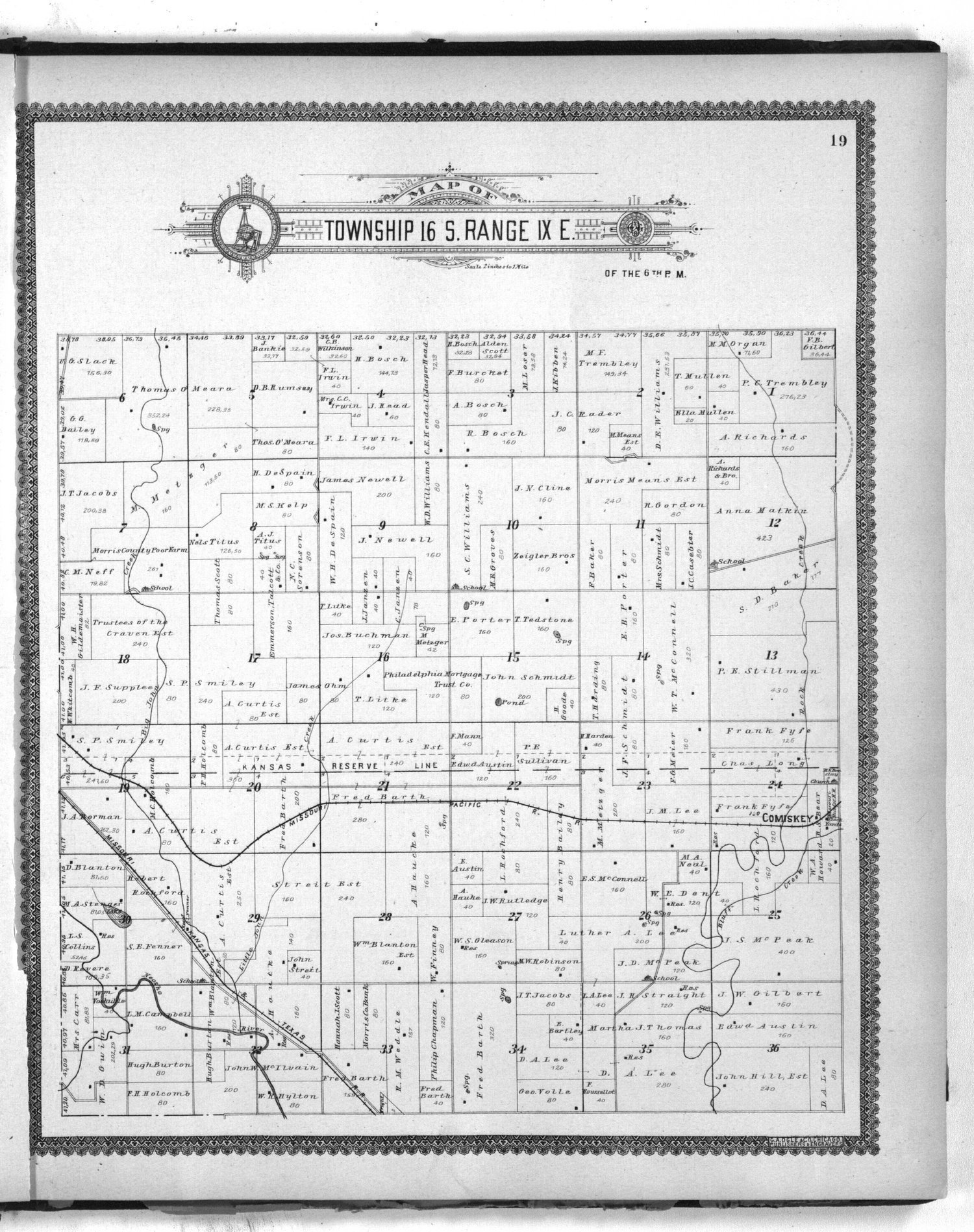 Standard atlas of Morris County, Kansas - 19