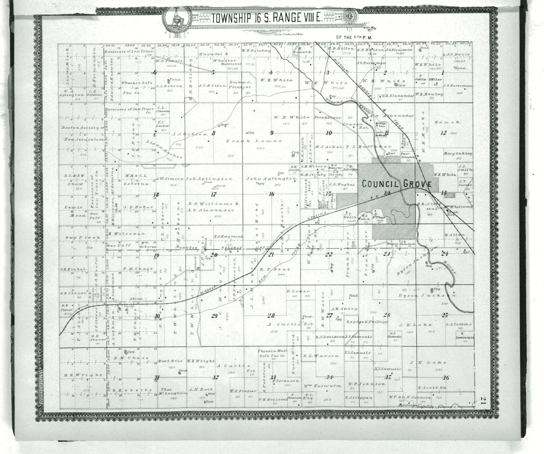 Standard atlas of Morris County, Kansas - 21