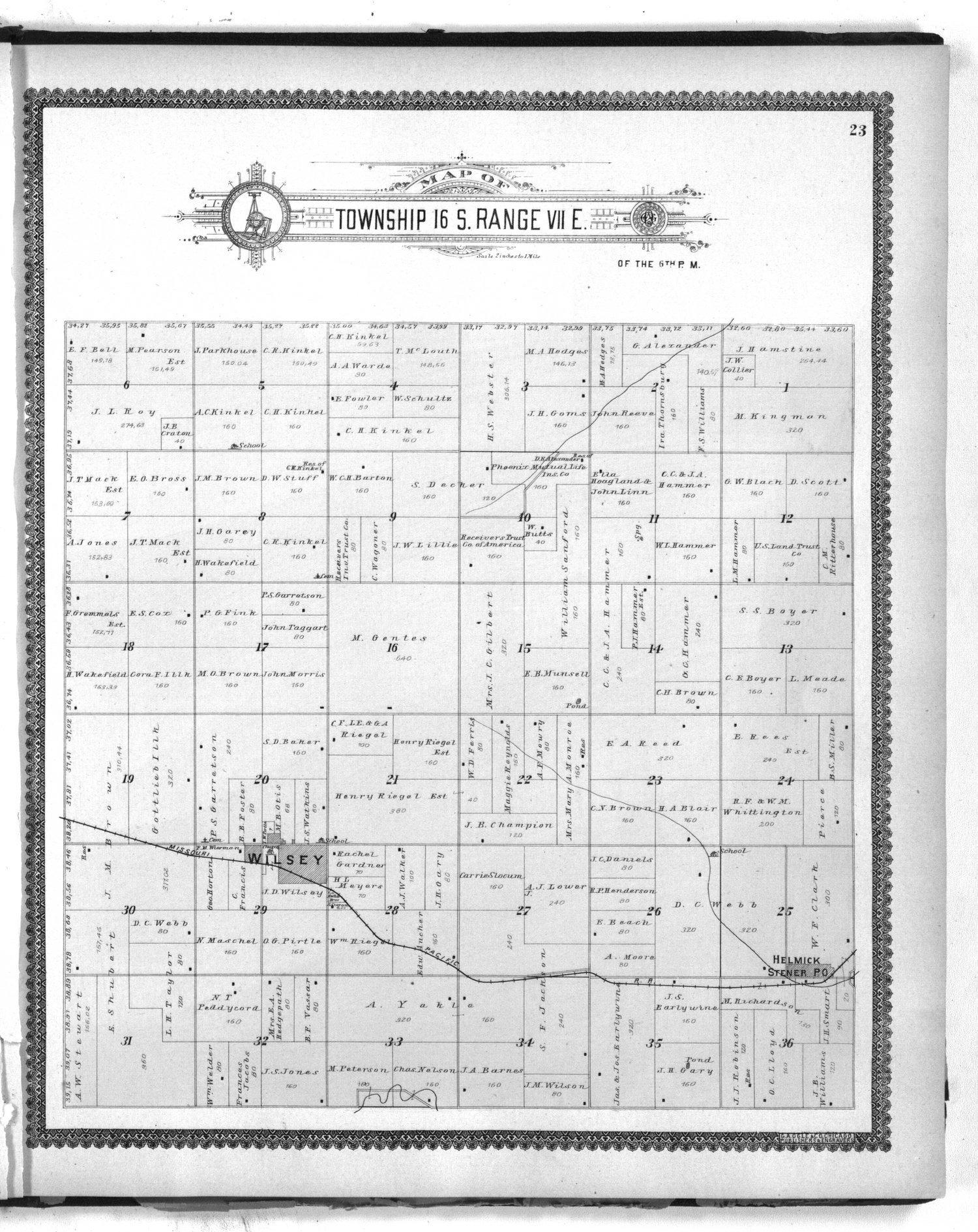 Standard atlas of Morris County, Kansas - 23