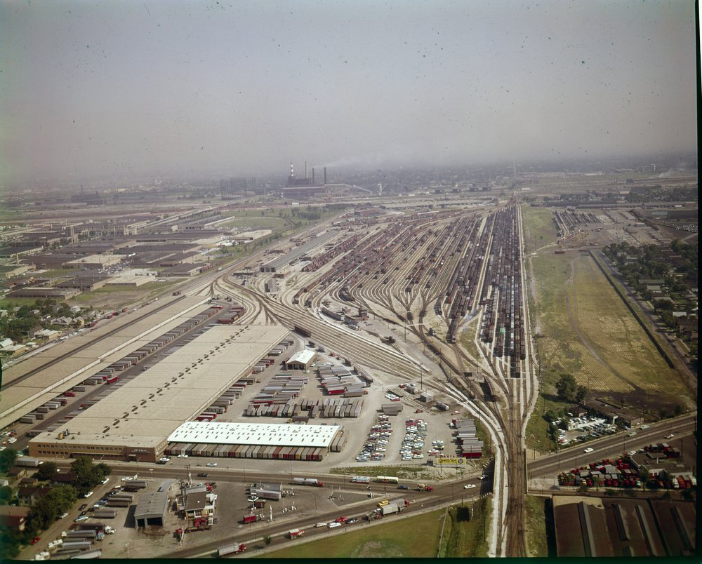 Atchison, Topeka and Santa Fe aerial view of Corwith Yard, Corwith, Illinois
