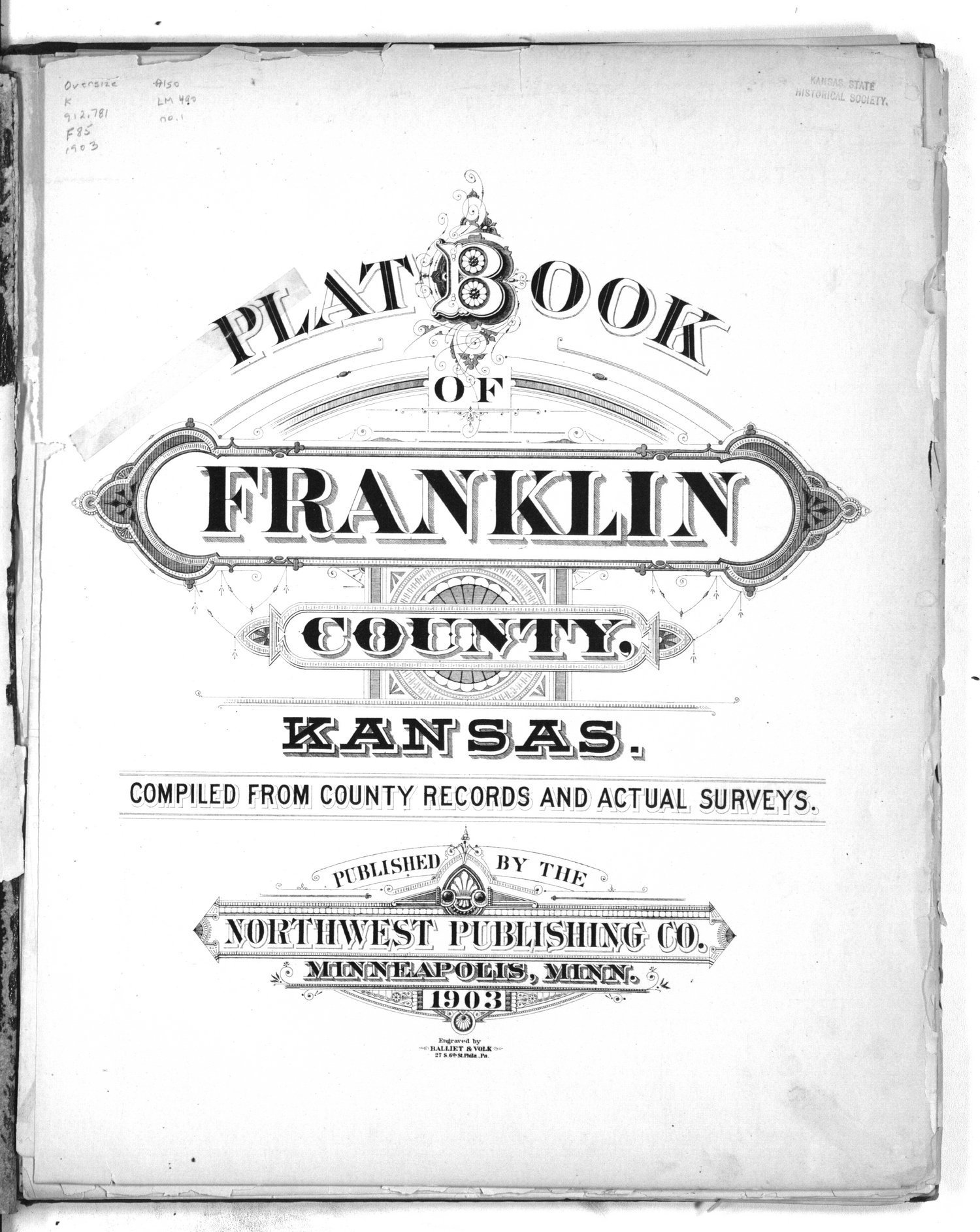 Plat book of Franklin County, Kansas - Title Page