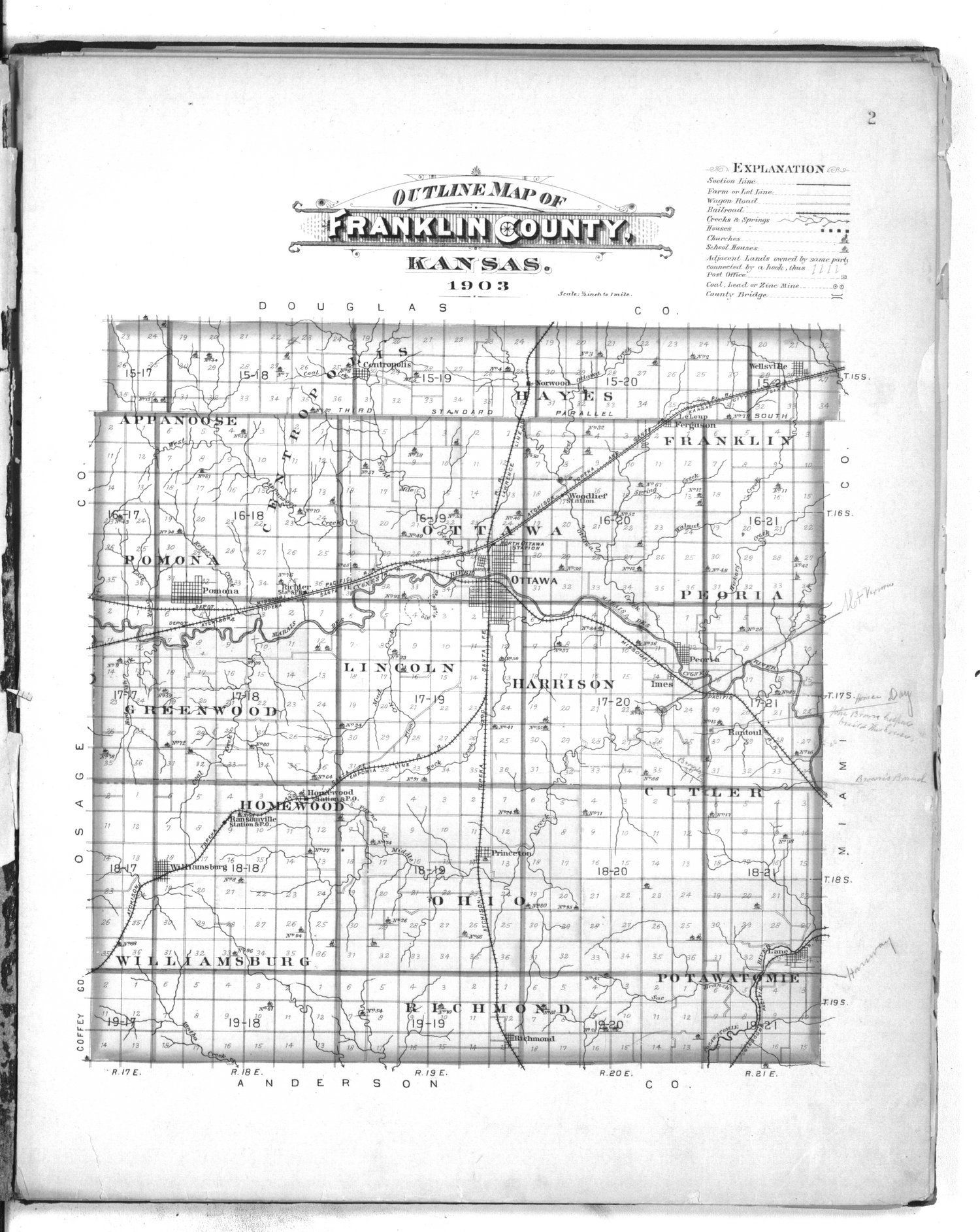 Plat book of Franklin County, Kansas - 2