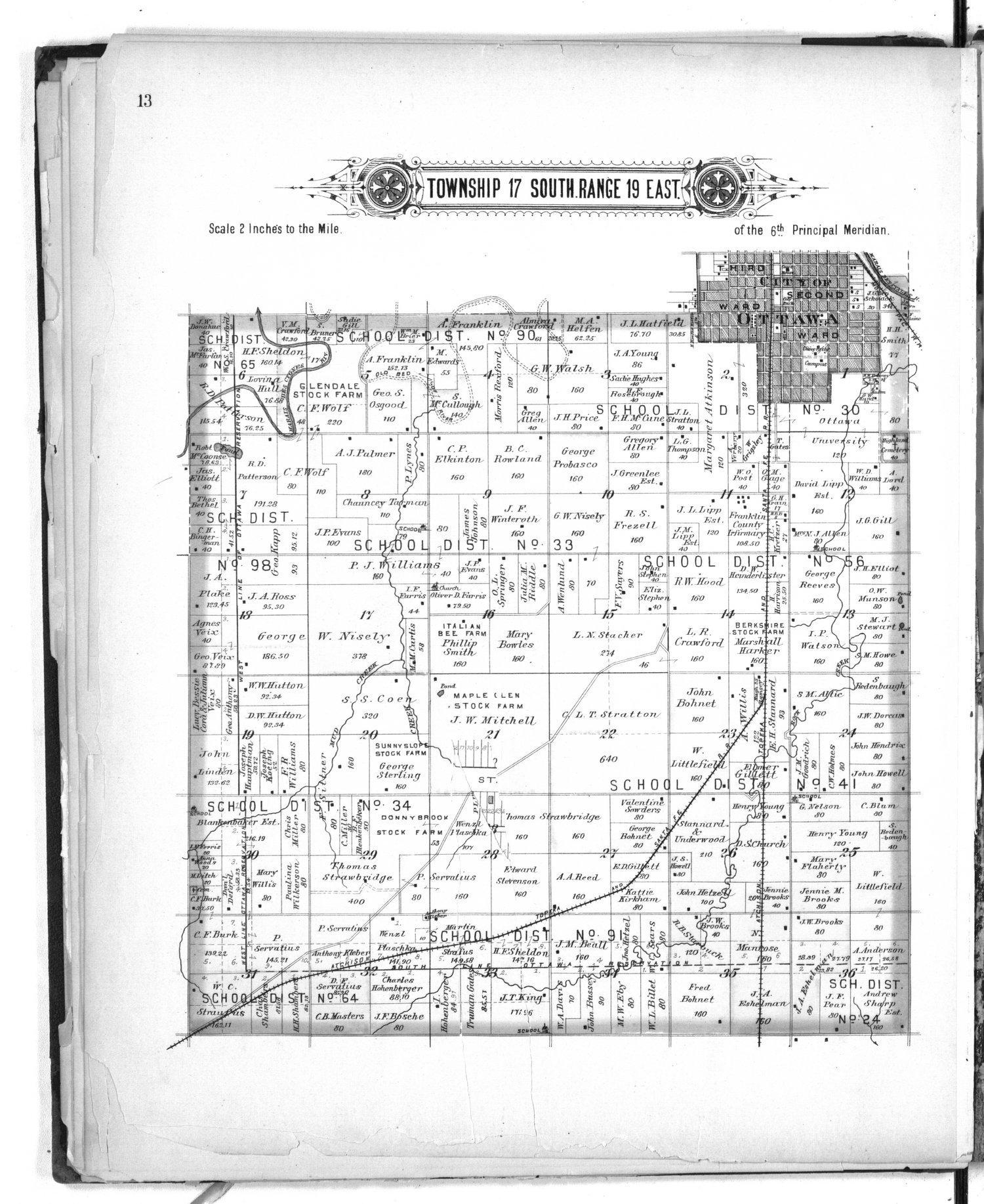 Plat book of Franklin County, Kansas - 13