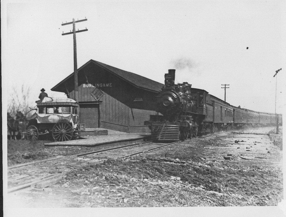 Atchison, Topeka and Santa Fe  No.3  at Burlingame, Kansas