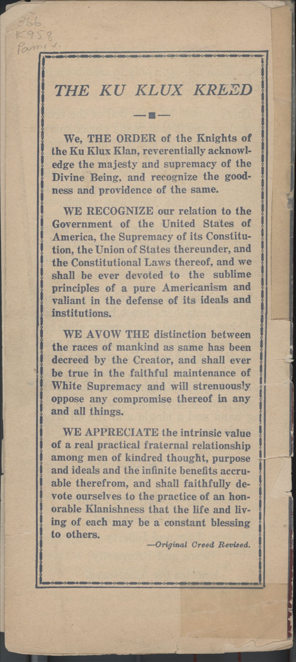 America for Americans - Back Cover