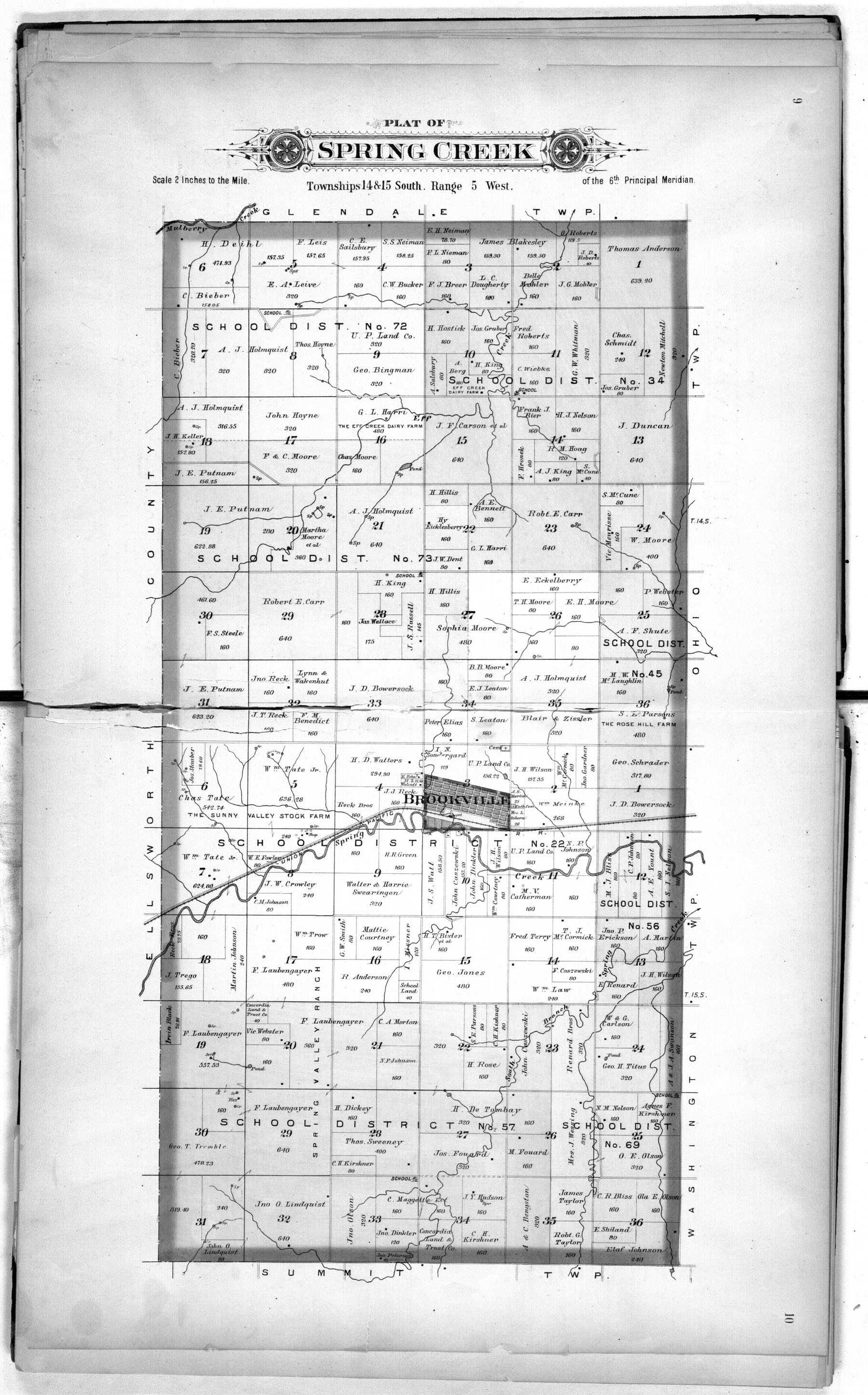Plat book of Saline County, Kansas - 9 & 10