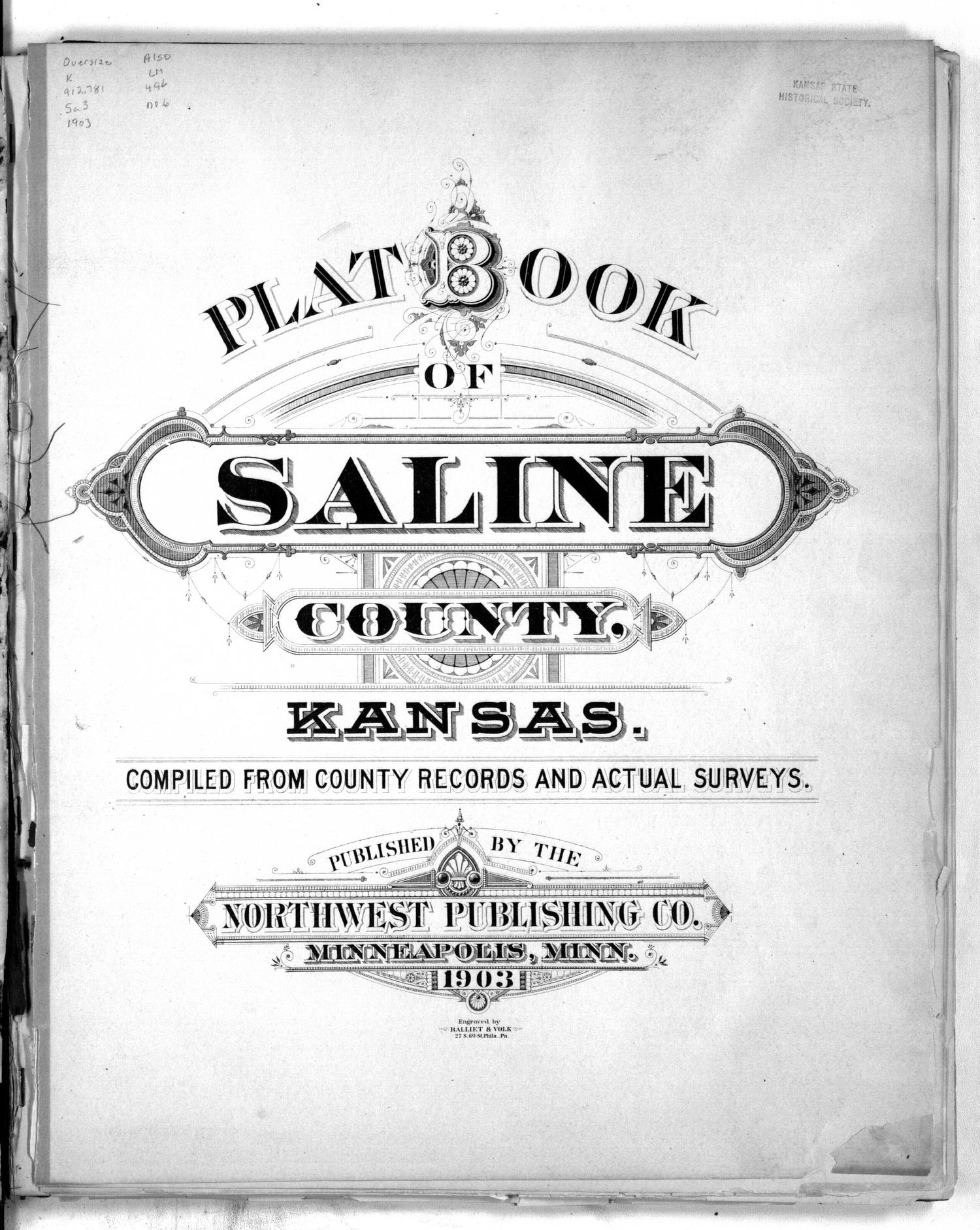 Plat book of Saline County, Kansas - Title page