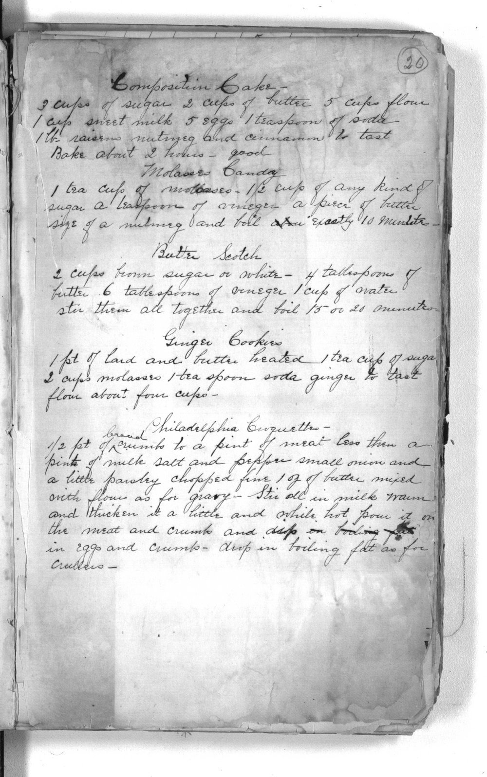 Henry Kuhn collection, record [and recipe] book - 8