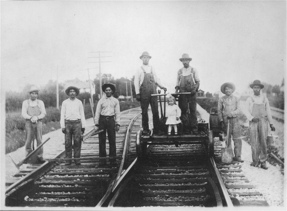 Atchison Topeka and Santa Fe Railway Comppany section crew, Pauline, Kansas
