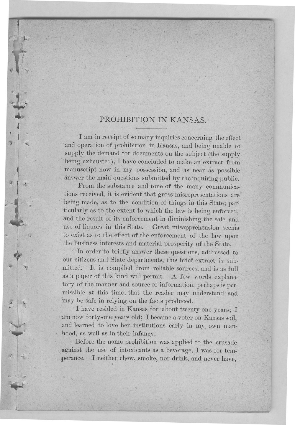 Prohibition in Kansas and the Prohibitory Law - 5