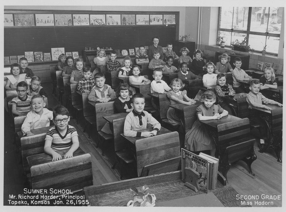 Second grade class, Sumner School, Topeka, Kansas