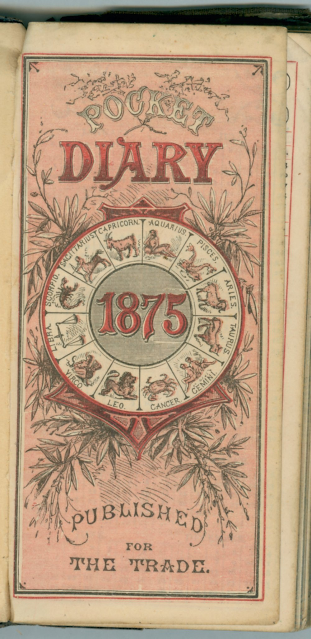 John William Gardiner diary - Title Page