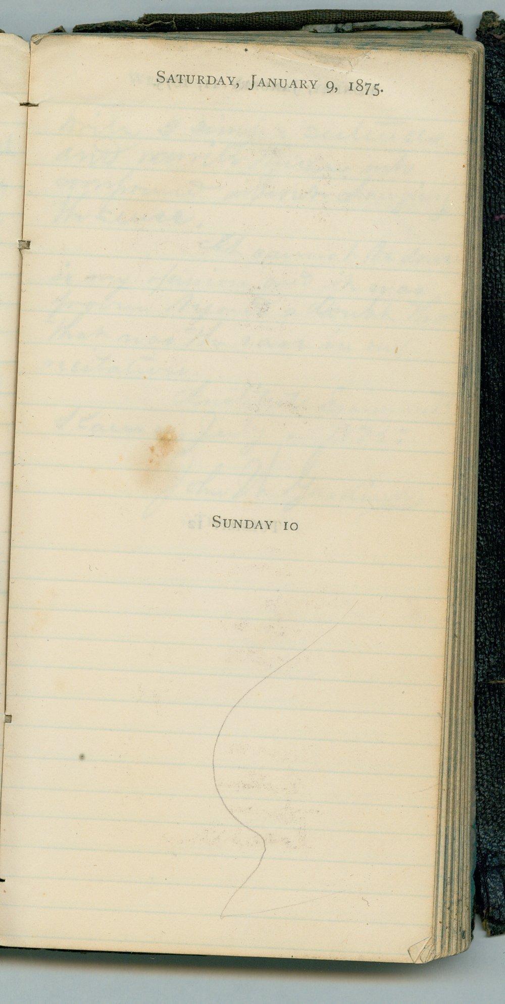 John William Gardiner diary - Jan 9, 1875