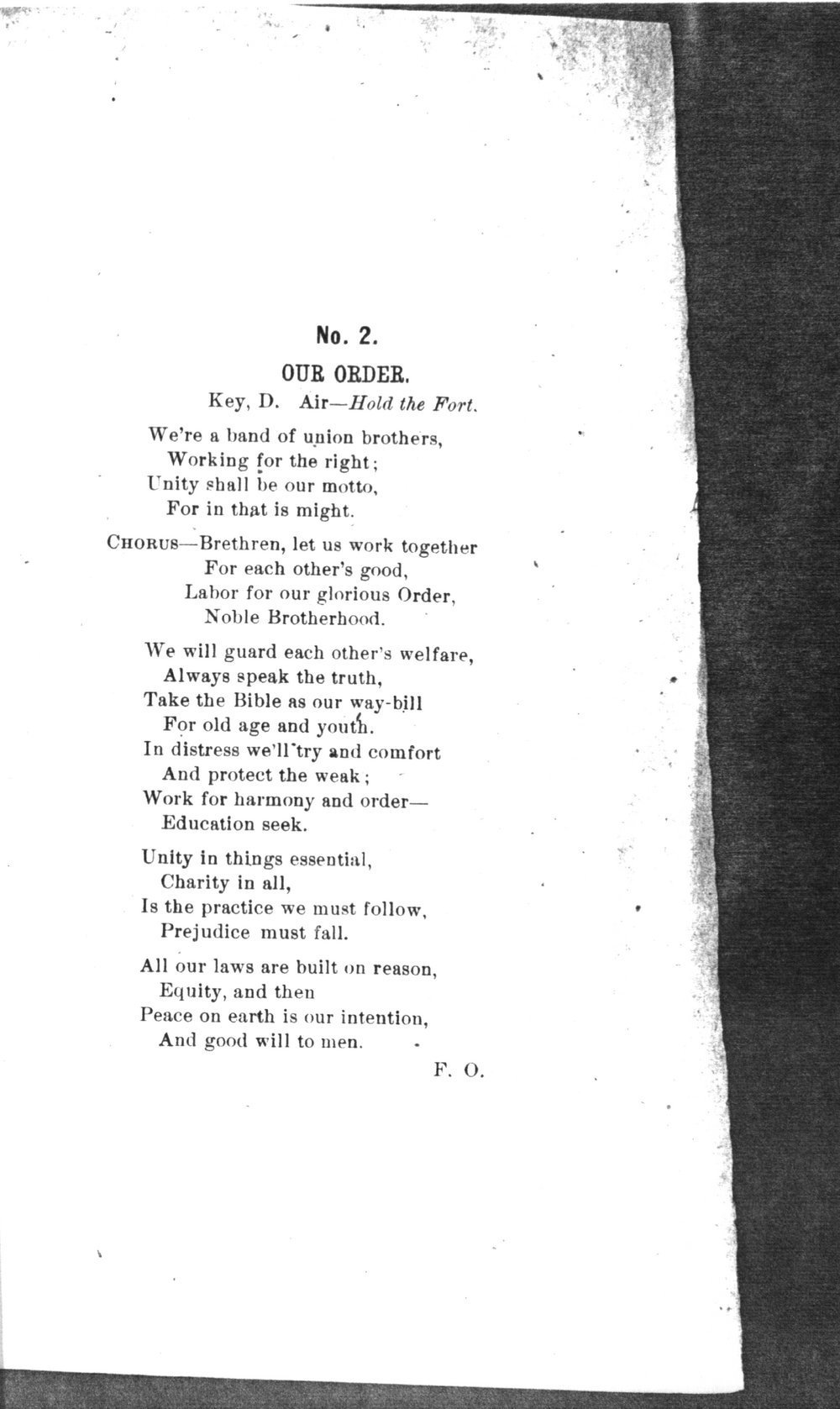 The mite:  Farmers' and Laborers' Union songs for national, state, county and subordinate unions - No. 2