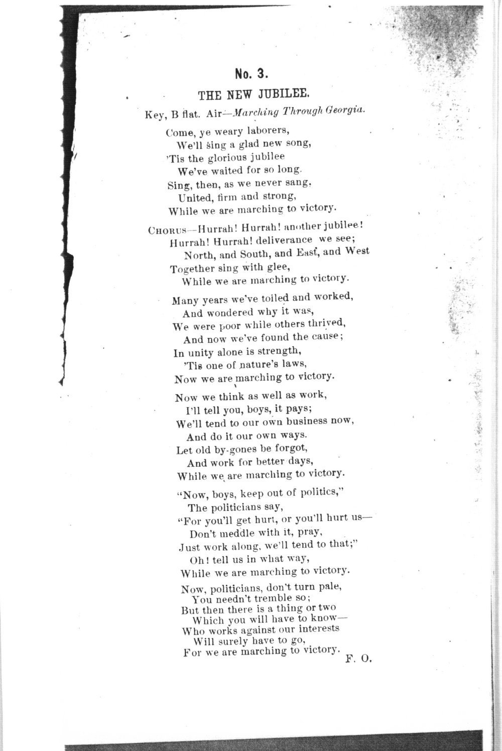 The mite:  Farmers' and Laborers' Union songs for national, state, county and subordinate unions - No. 3