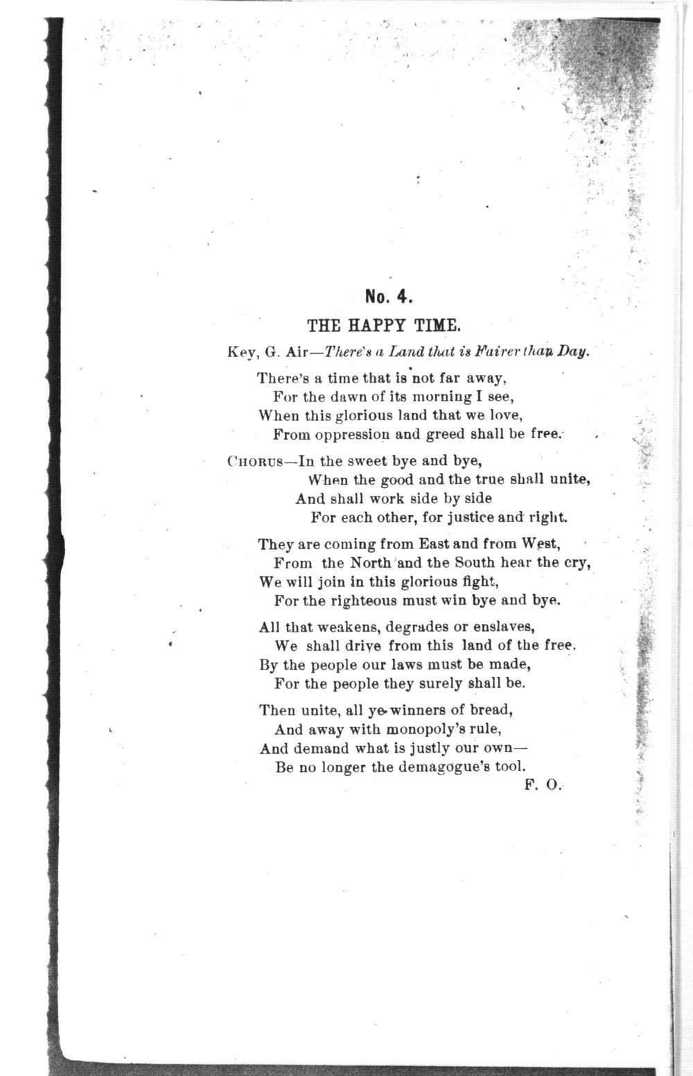 The mite:  Farmers' and Laborers' Union songs for national, state, county and subordinate unions - No. 4