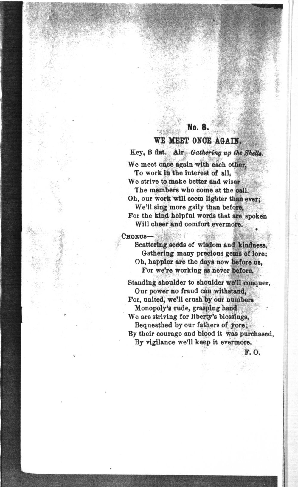 The mite:  Farmers' and Laborers' Union songs for national, state, county and subordinate unions - No. 8