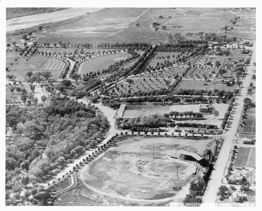 Aerial view of Garden City, Finney County, Kansas