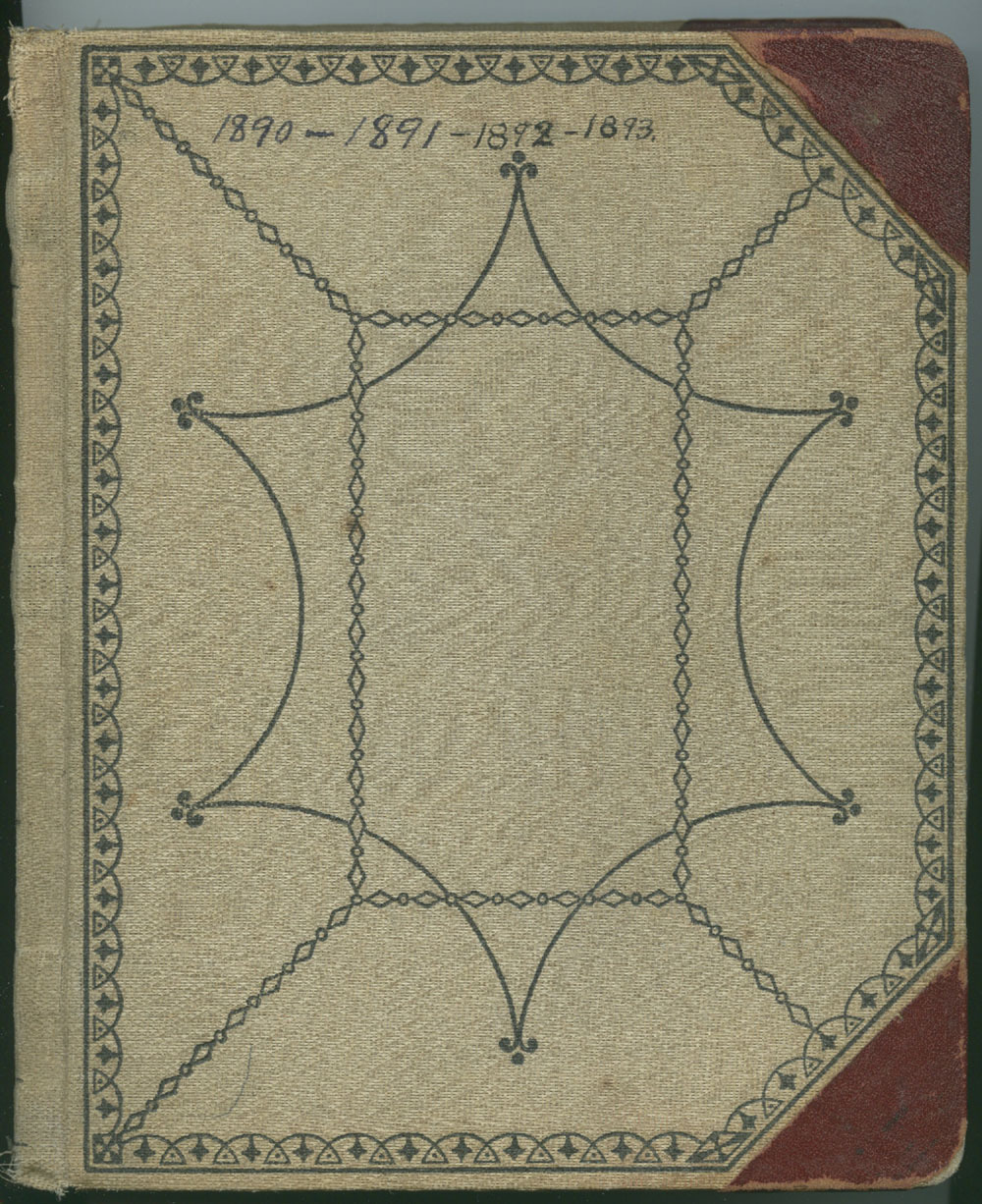 Martha Farnsworth diary - Front cover