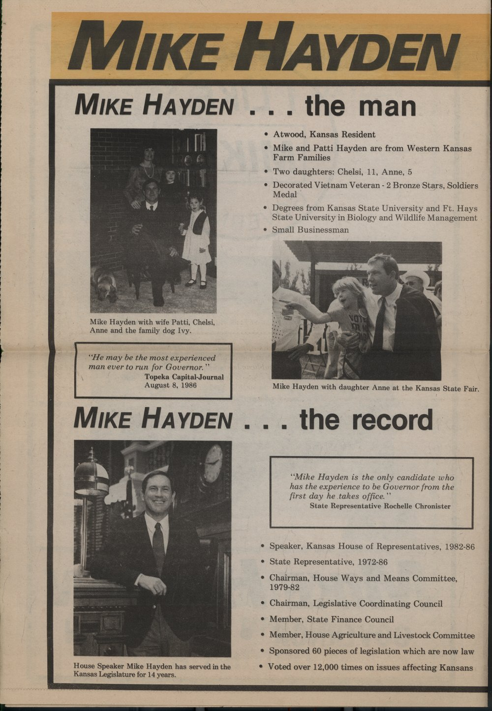 Mike Hayden for governor - 2
