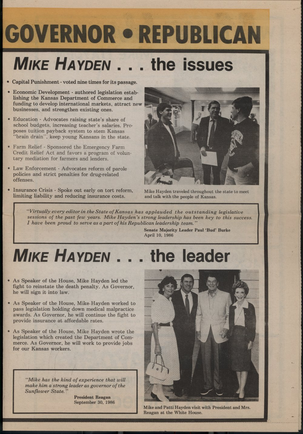 Mike Hayden for governor - 3