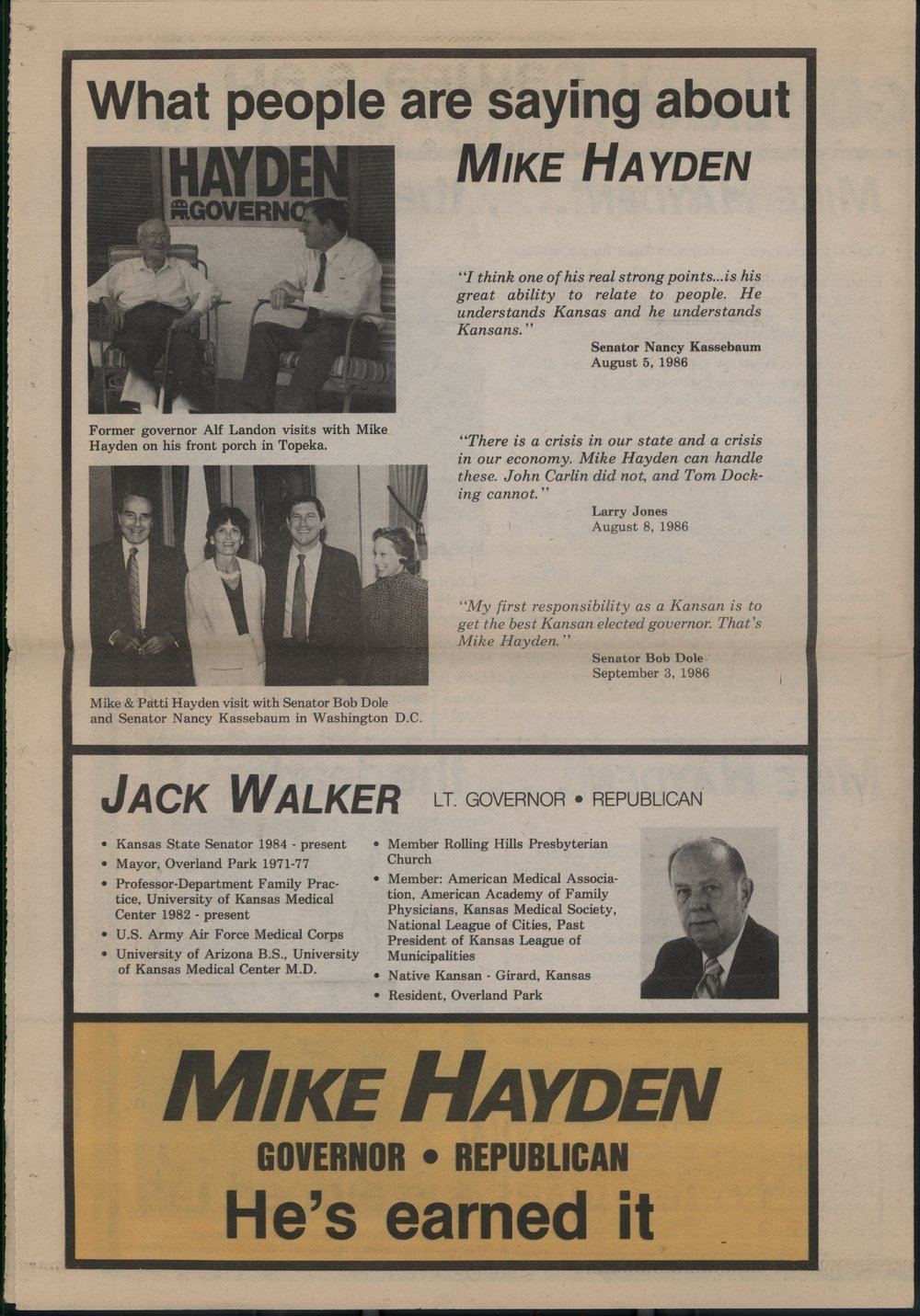 Mike Hayden for governor - 4