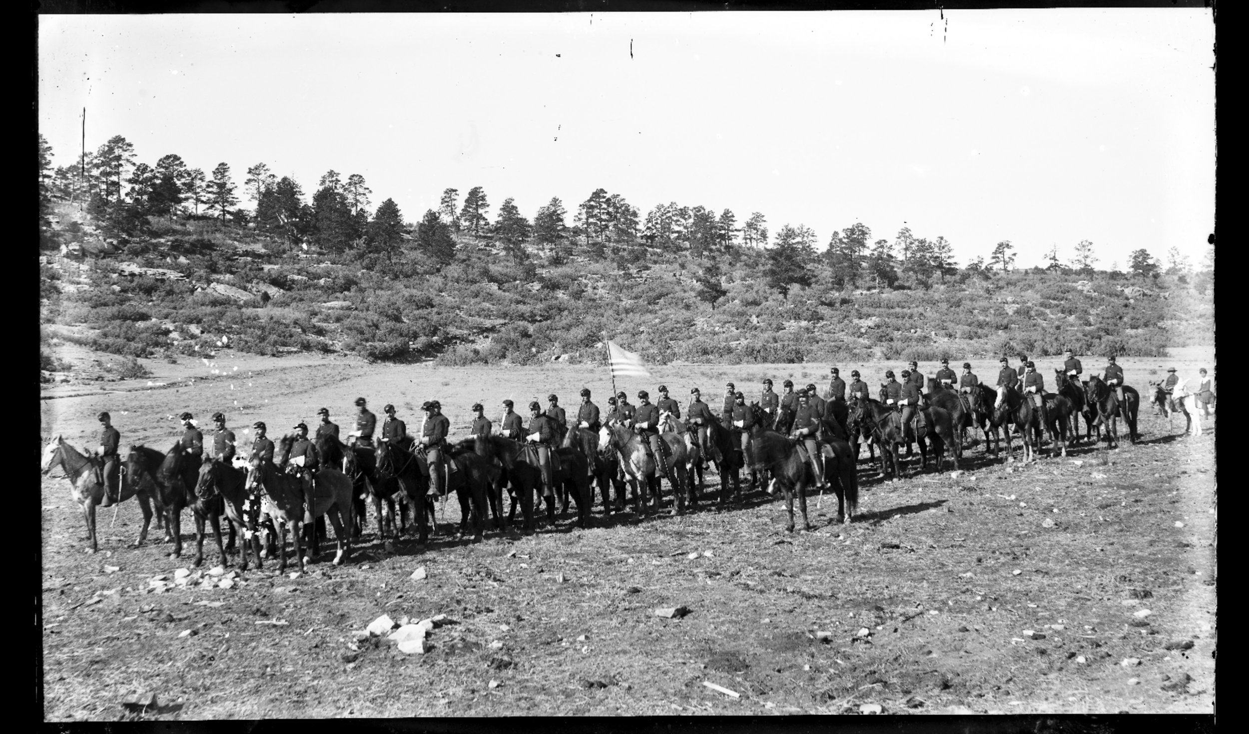 Fort Lyon and Fort Union - Mounted troops, Troop E, 6th Cavalry, taken at Fort Union, New Mexico. Neg *2