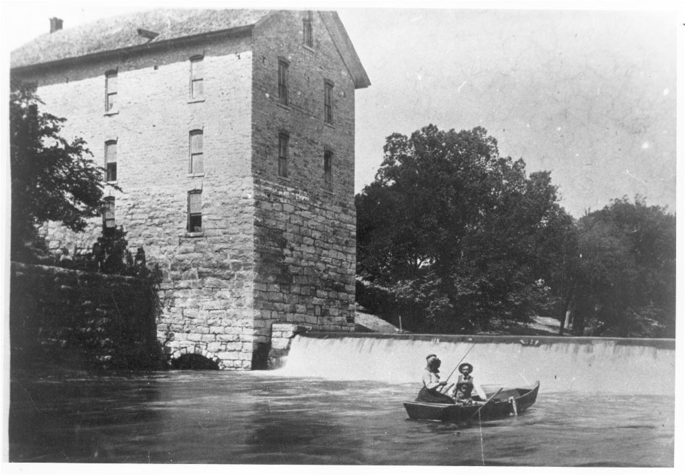 Cedar Point Mill and Dam, Cedar Point, Kansas