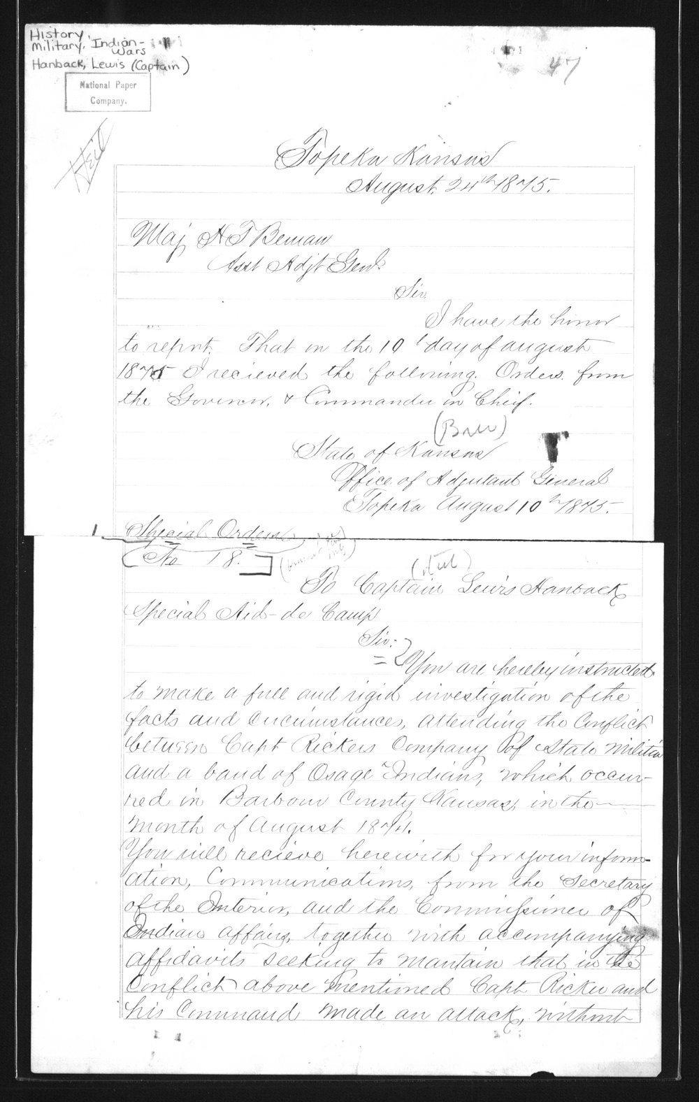 Captain Lewis Hanback's final report - 47