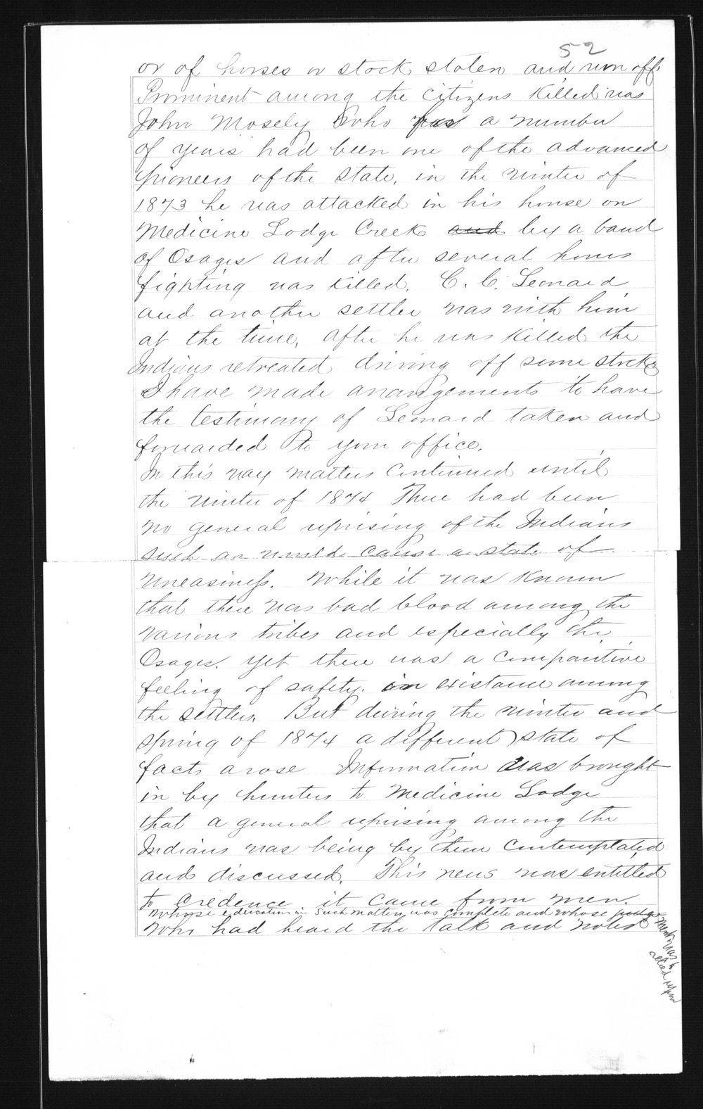 Captain Lewis Hanback's final report - 52