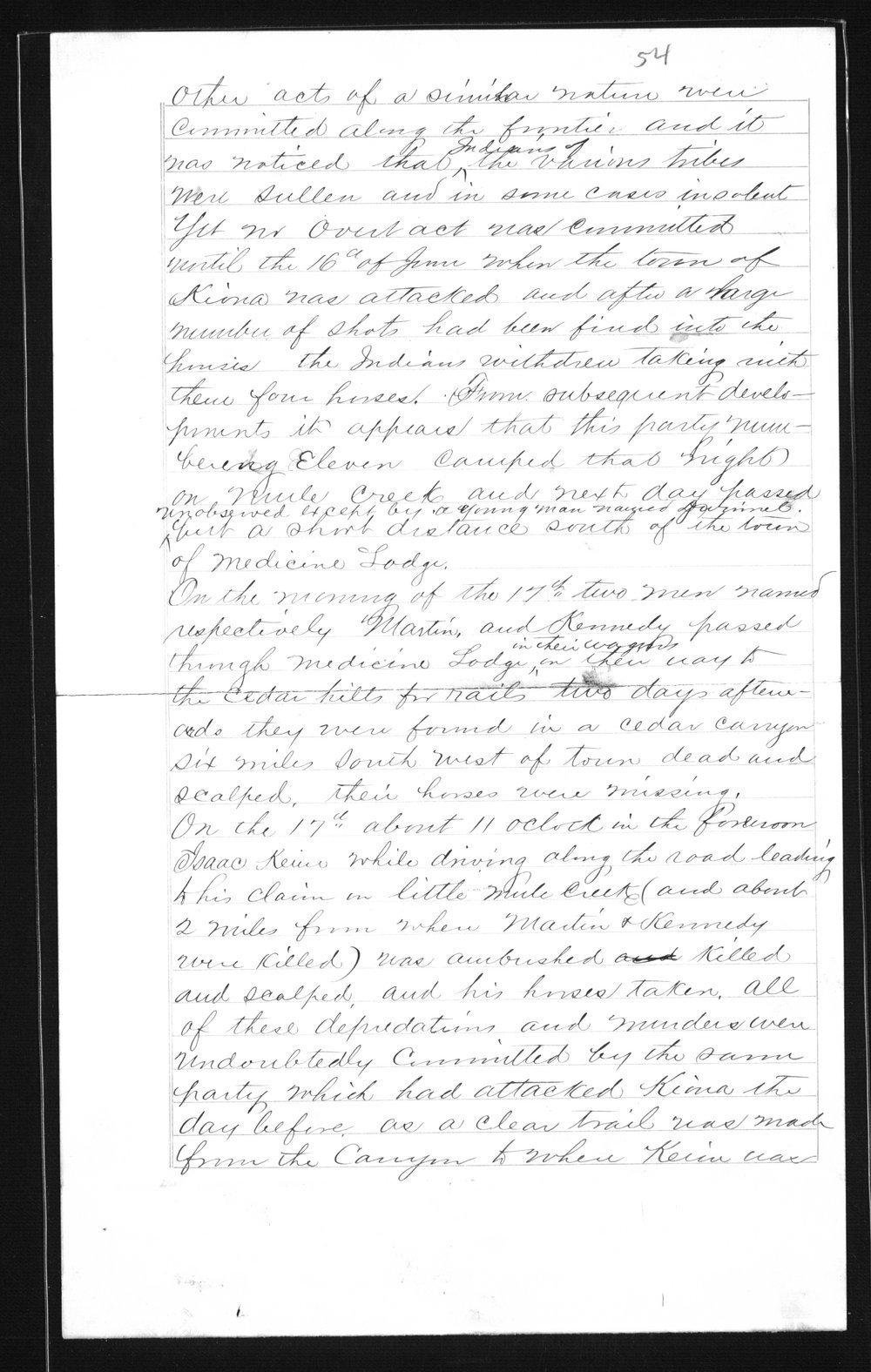 Captain Lewis Hanback's final report - 54
