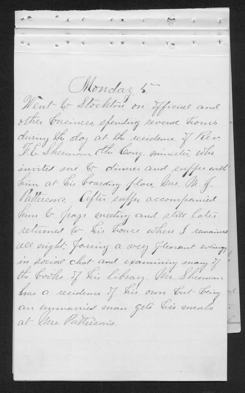Elam Bartholomew diary - Jan. 5, 1880