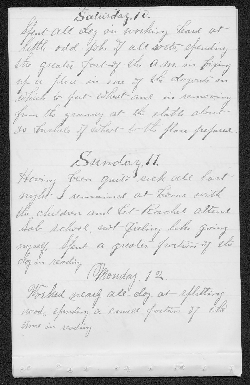 Elam Bartholomew diary - Jan 10, 1880