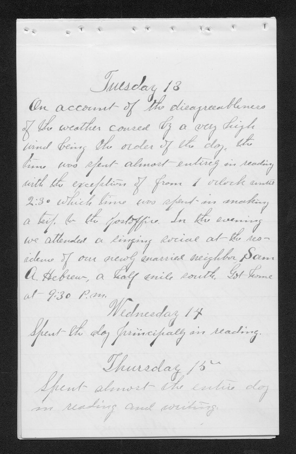 Elam Bartholomew diary - Jan 13, 1880