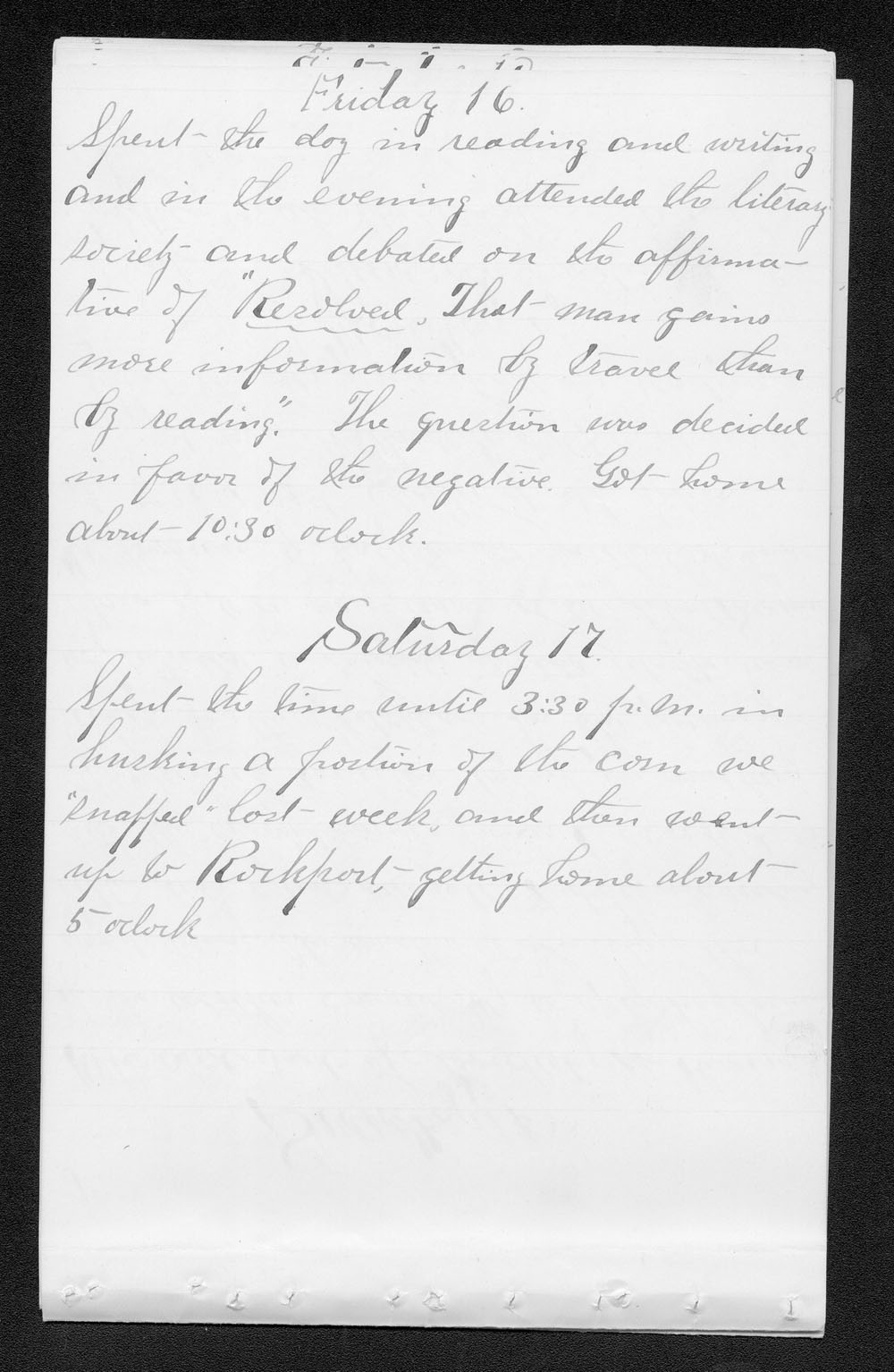 Elam Bartholomew diary - Jan 16, 1880