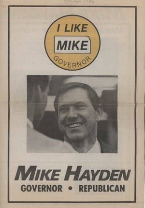 Mike Hayden for governor - 1
