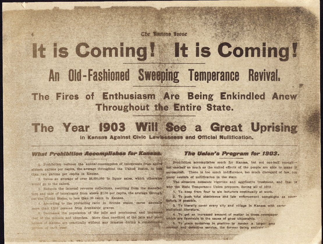 It is coming!  It is coming!  An old-fashioned sweeping temerance revival