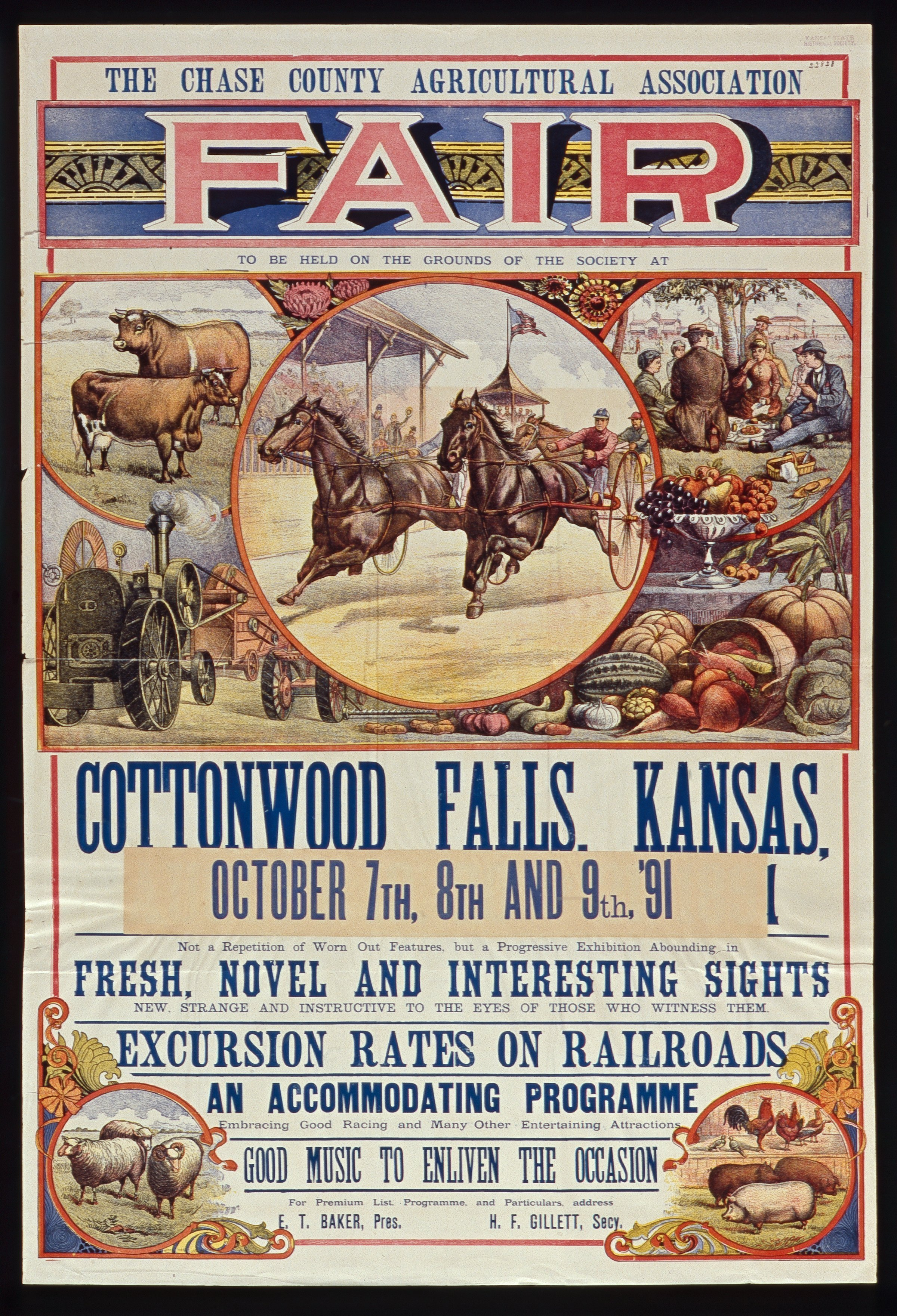 The Chase County Agricultural Association fair, Cottonwood Falls, Kansas