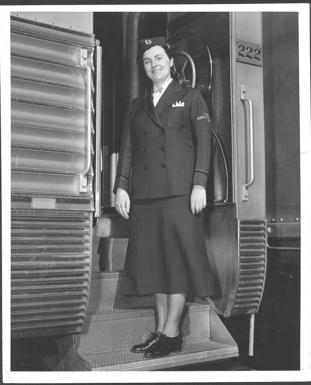 Delma Frasser, Atchison, Topeka & Santa Fe courier nurse