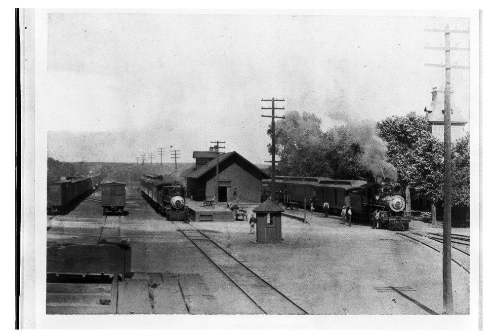 Atchison Topeka and Santa Fe Railway Company depot, Florence, Kansas