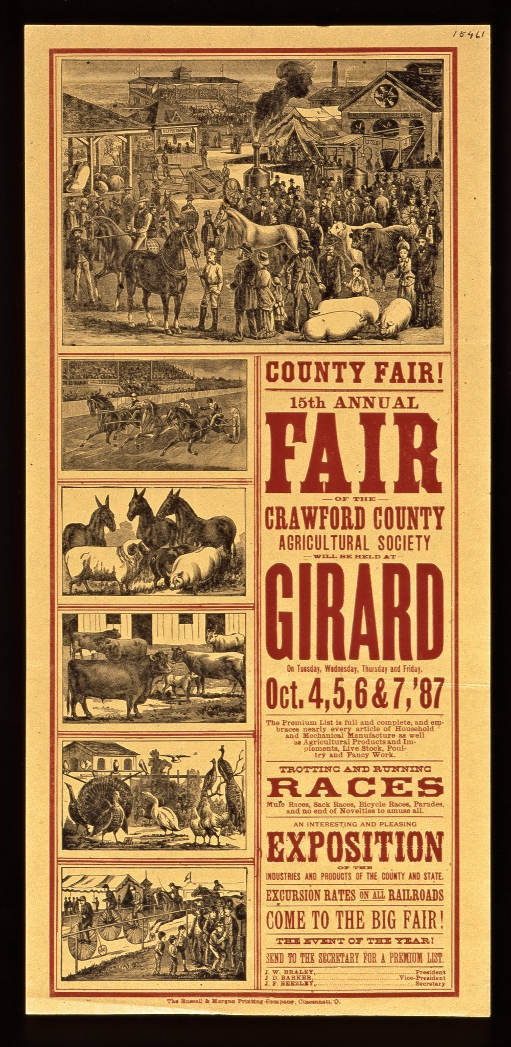 Fifteenth annual fair of the Crawford County Agricultural Society, Girard, Kansas