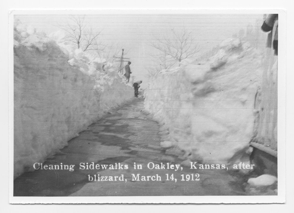 Blizzard in Oakley, Kansas