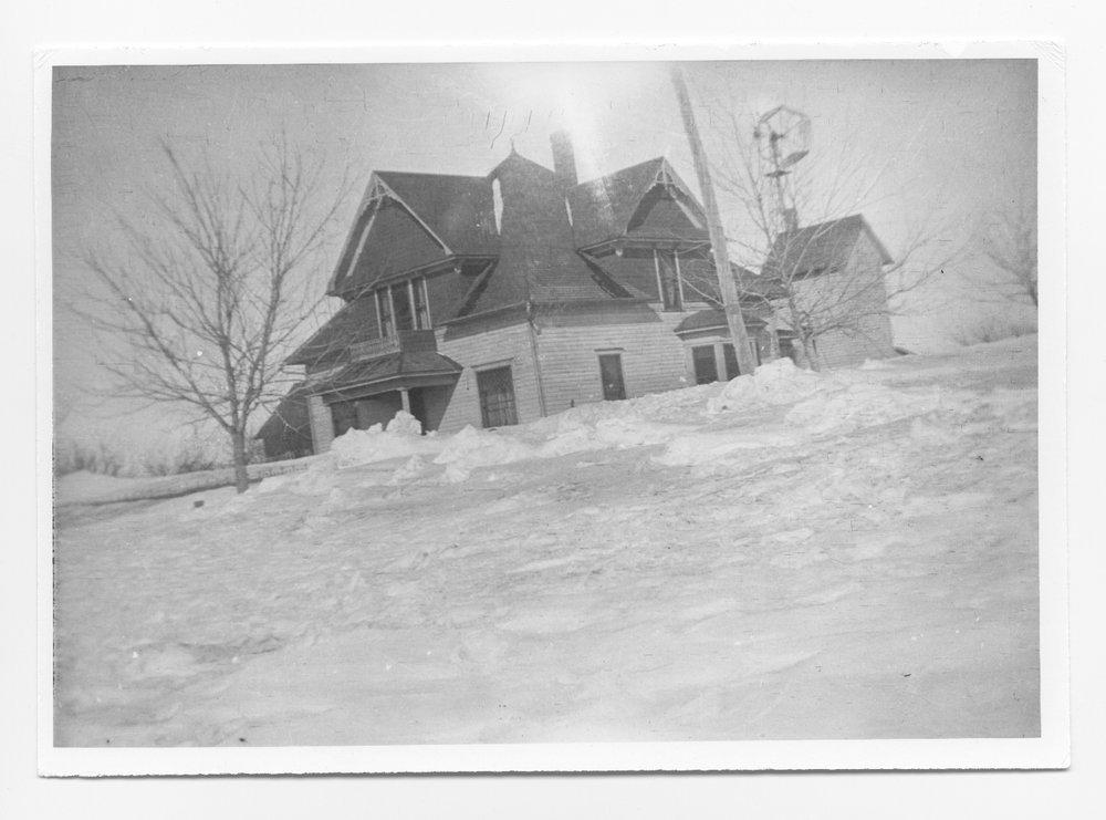Snow in Oakley, Kansas