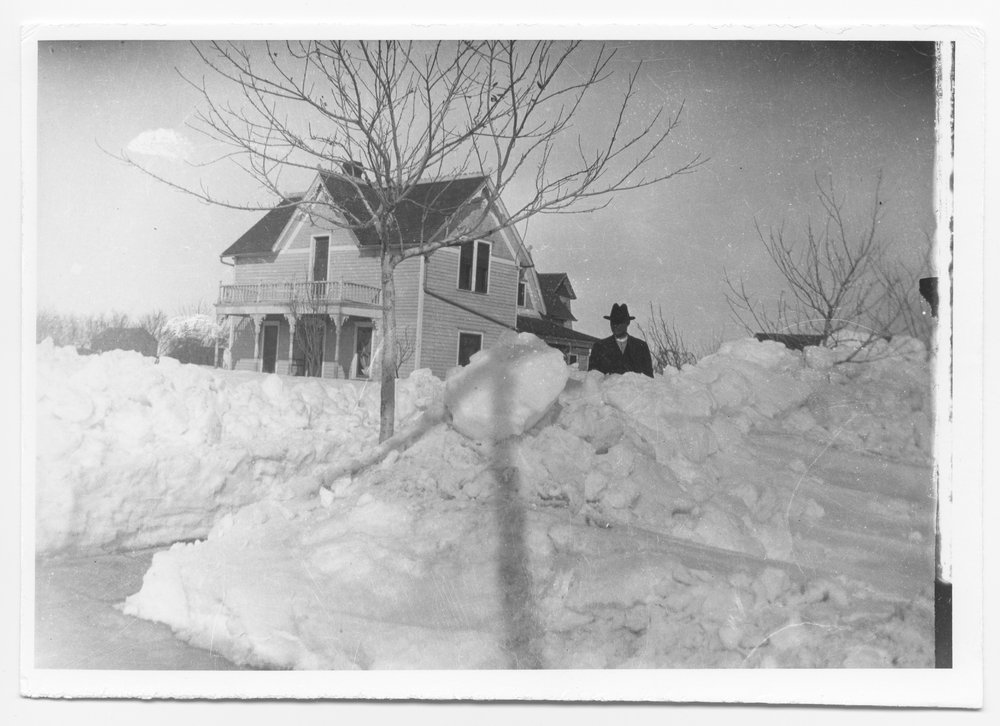 Snow in Oakely, Kansas