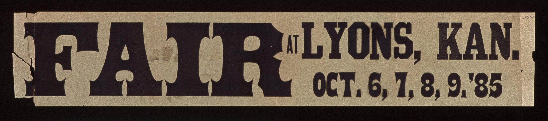 Fair at Lyons, Kansas