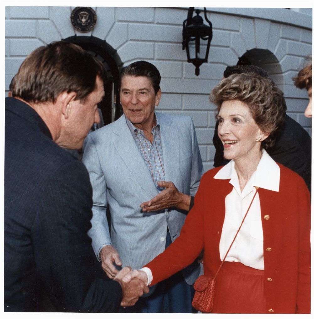 John Michael (Mike) Hayden with President Ronald Wilson Reagan and First Lady Nancy Reagan