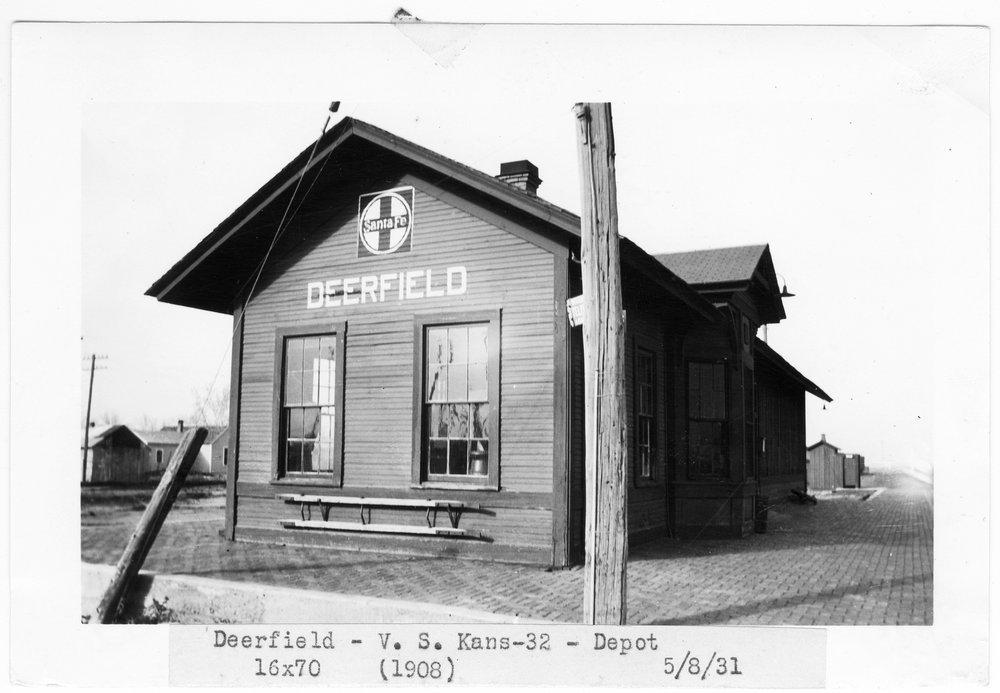 Atchison Topeka and Santa Fe Railway Company depot, Deerfield, Kansas